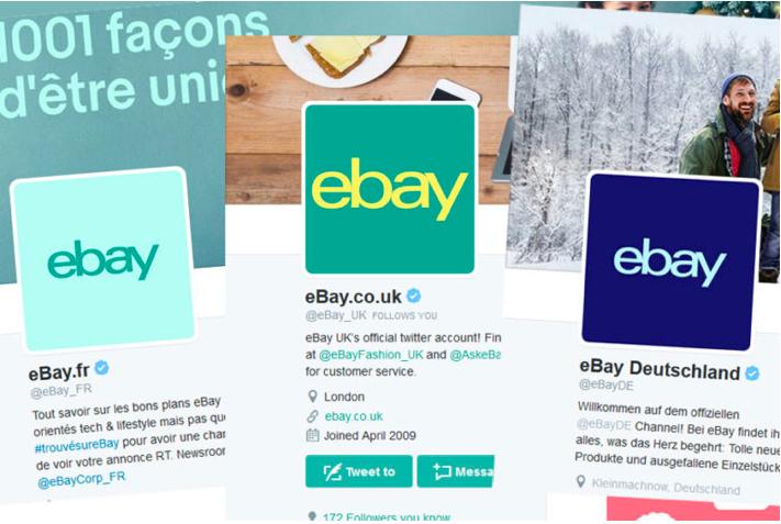 eBay logo changes