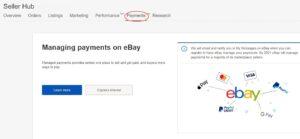 eBay Managed payment option