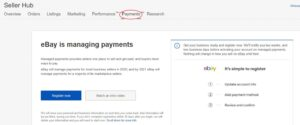 eBay Managed payment sign up